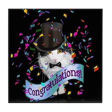 """""""Congratulations"""" Tile Coaster"""