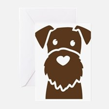 Cute Wire fox terrier Greeting Cards (Pk of 10)