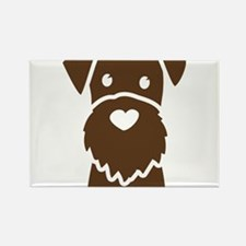 Cute Wire terrier Rectangle Magnet
