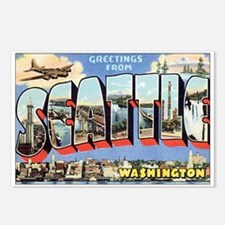 Seattle Postcard Postcards (Package of 8)