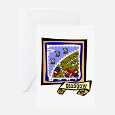 Glasgow graphic Greeting Cards