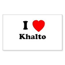 I Heart Khalto Rectangle Decal