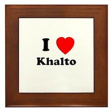 I Heart Khalto Framed Tile