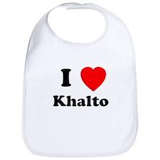 I Heart Khalto Bib