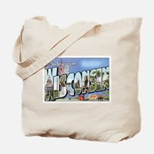 Wisconsin Postcard Tote Bag