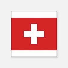 Switzerland Civil Ensign Rectangle Sticker