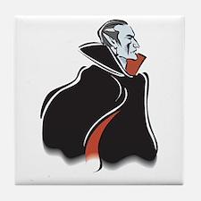 Spooky Dracula Vampire Tile Coaster