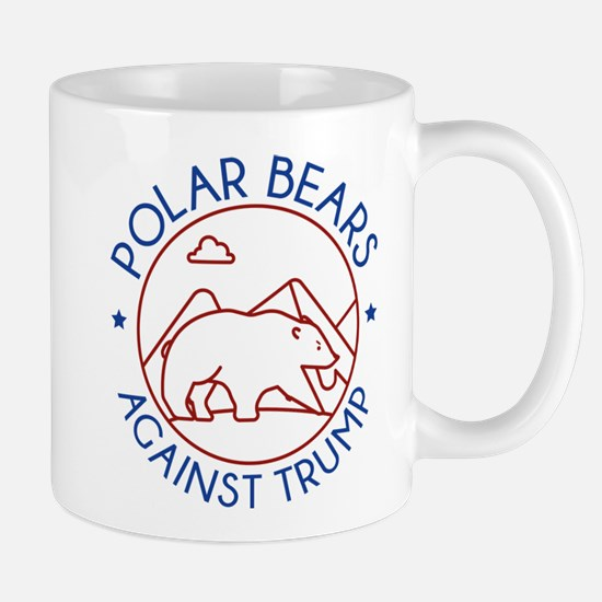 Polar Bears Against Trump Mug