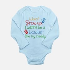 Bowler Like Daddy Long Sleeve Infant Bodysuit