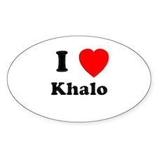 I Heart Khalo Oval Decal