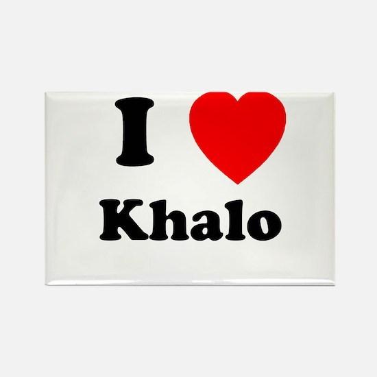 I Heart Khalo Rectangle Magnet