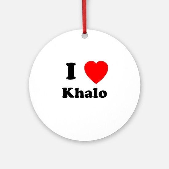 I Heart Khalo Ornament (Round)
