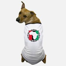Africa, Flag and Chain Dog T-Shirt