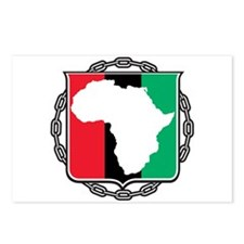 Africa, Flag and Chain Postcards (Package of 8)