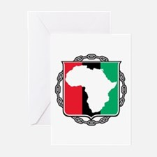 Africa, Flag and Chain Greeting Cards (Pk of 20)
