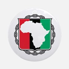 Africa, Flag and Chain Ornament (Round)