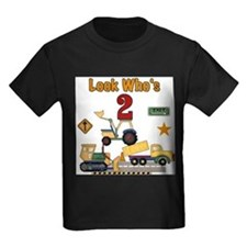 Construction Vehicles 2nd Birthday T-Shirt