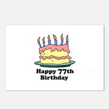 Happy 77th Birthday Postcards (Package of 8)