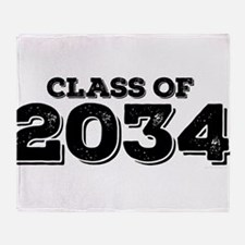 Class of 2034 Throw Blanket
