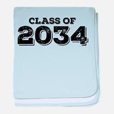 Class of 2034 baby blanket