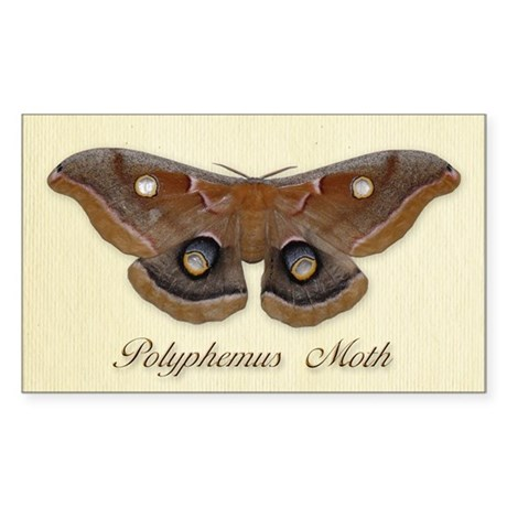 Polyphemus Moth Rectangle Sticker