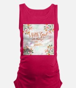 With God Maternity Tank Top