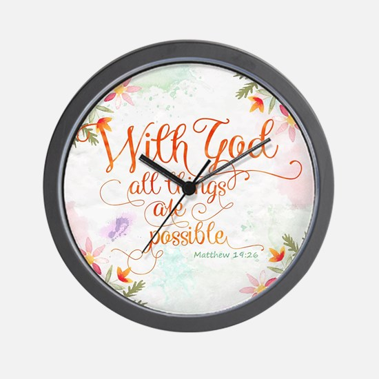 With God Wall Clock