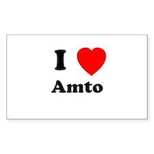I heart Amto Rectangle Decal