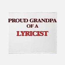 Proud Grandpa of a Lyricist Throw Blanket