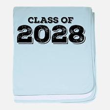 Class of 2028 baby blanket