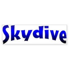 Skydive Bumper Car Sticker