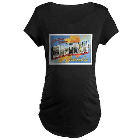 Montreal Postcard Maternity Dark T-Shirt