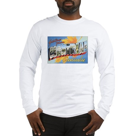 Montreal Postcard Long Sleeve T-Shirt