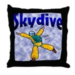 Skydive Throw Pillow
