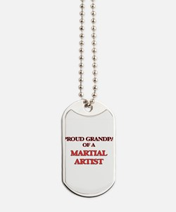 Proud Grandpa of a Martial Artist Dog Tags