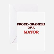 Proud Grandpa of a Mayor Greeting Cards