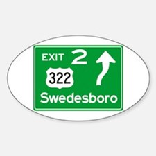NJTP Logo-free Exit 2 Swedesboro Decal