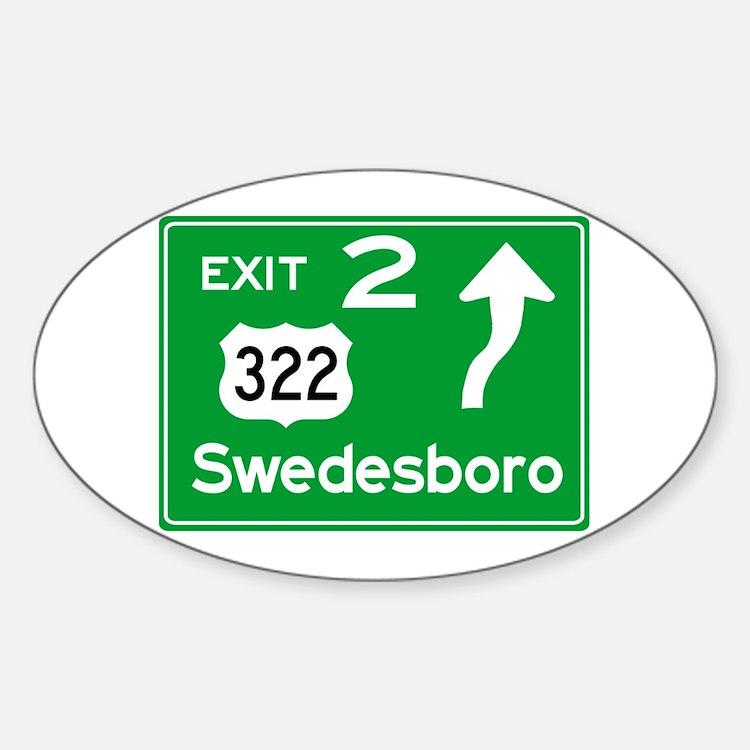 NJTP Logo-free Exit 2 Swedesboro Decal