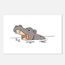 Hippo in Water Postcards (Package of 8)
