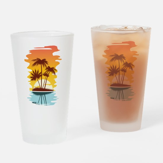 Tropical Sunset Drinking Glass