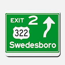 NJTP Logo-free Exit 2 Swedesboro Mousepad