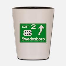 NJTP Logo-free Exit 2 Swedesboro Shot Glass