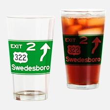NJTP Logo-free Exit 2 Swedesboro Drinking Glass