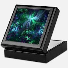 Abstract 3d Forest Light Keepsake Box