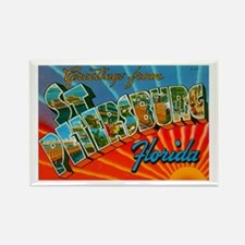 St. Petersburg Postcard Rectangle Magnet