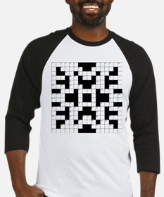 Crossword Pattern Decorative Baseball Jersey