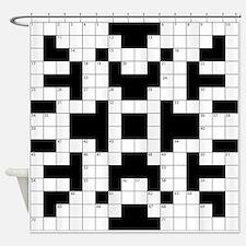 Crossword Pattern Decorative Shower Curtain