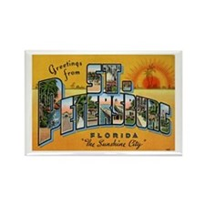 St. Petersburg Postcard Rectangle Magnet
