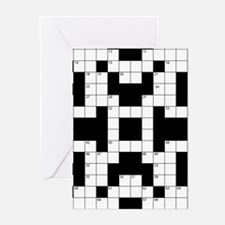 Crossword Pattern Decorative Greeting Cards