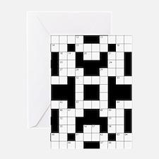 Crossword Pattern Decorative Greeting Cards